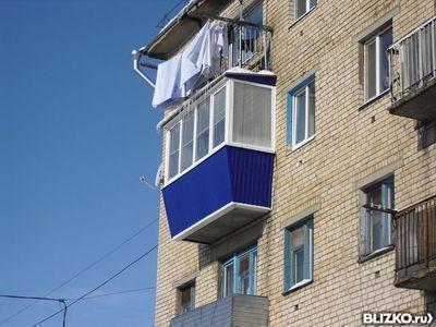 Остекление балкона 3м. вынос в 3 стороны от компании вектор-.
