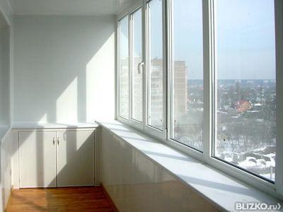 Остекление балкона, рамы деревянные - 6 метров от компании а.
