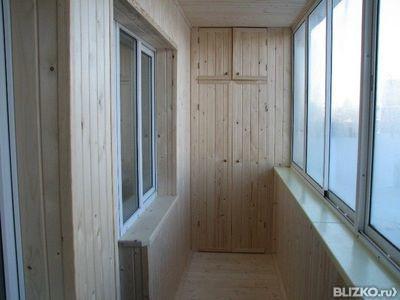 Обшивка балконов евровагонкой - 6 метров от компании ааа-сер.