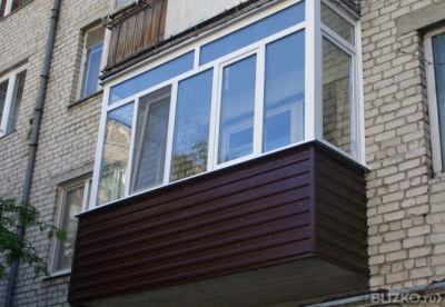Остекление балкона под ключ 3м х 1,5м х 0,7м в саратове - на.